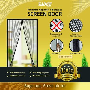 Magnetic Mesh Bug Screen Door
