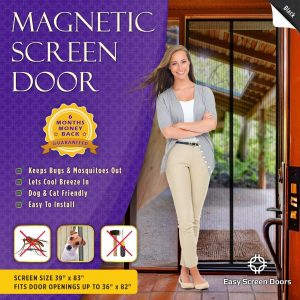 "Easy Screen Doors Magnetic Screen Door 36""x82"""