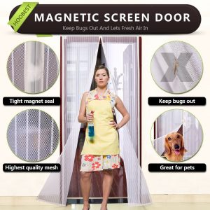 Hoobest Black Magnetic Screen Door
