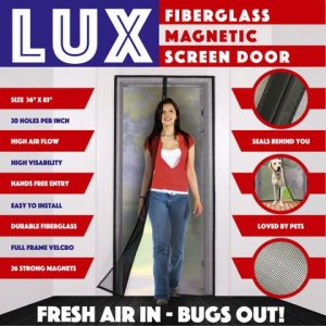 Lux Fiberglass Magnetic Screen Door