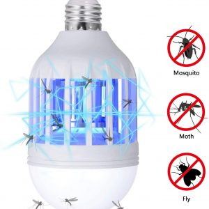 GLOUE Bug Zapper Light Bulb, 2 in 1 Mosquito Killer