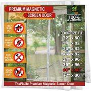 TheFitLife Magnetic Screen Door
